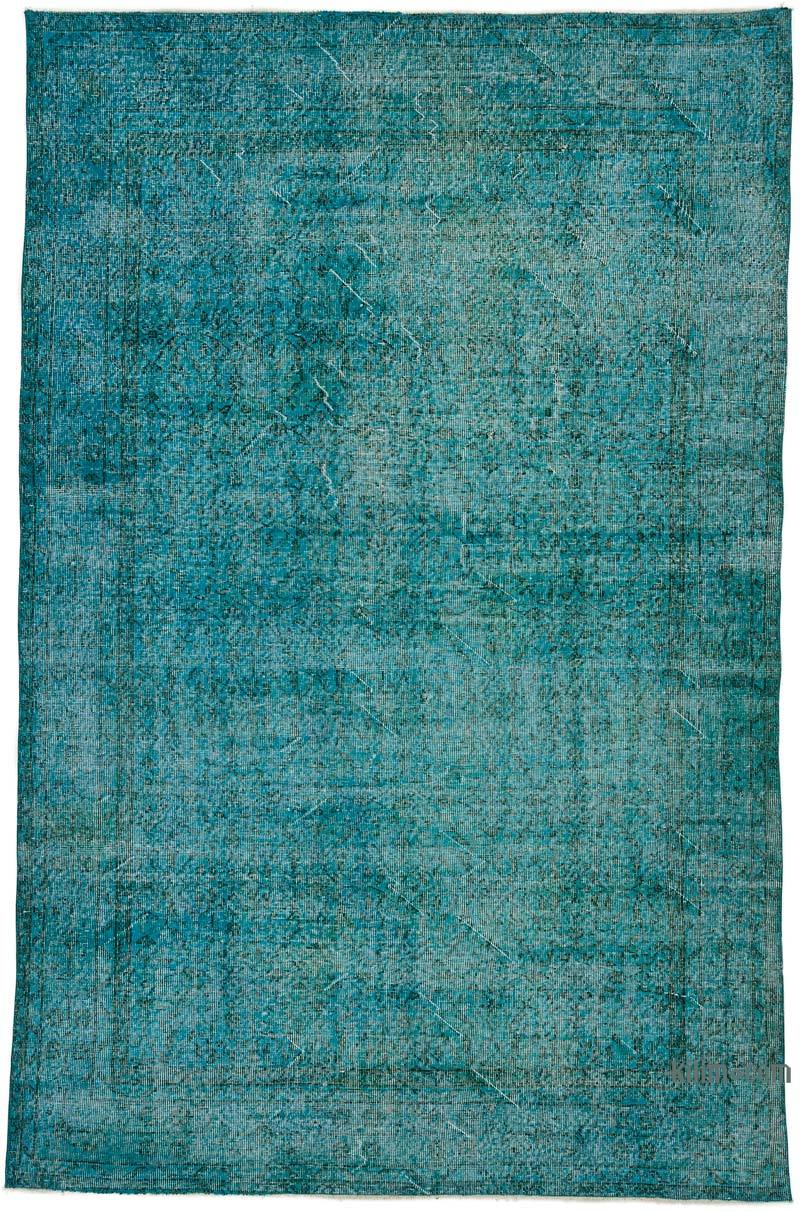 Over-dyed Turkish Vintage Rug - 5' 8# x 8' 10# (68 in. x 106 in.) - K0044226