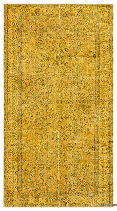 """Over-dyed Turkish Vintage Rug - 4'11"""" x 8'11"""" (59 in. x 107 in.)"""