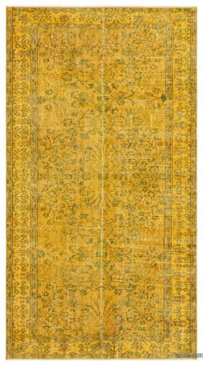 Alfombra Turca Vintage Sobre-teñida - 150 cm x 273 cm