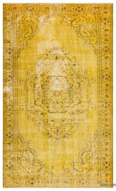 "Over-dyed Turkish Vintage Rug - 5' 9"" x 9' 9"" (69 in. x 117 in.)"
