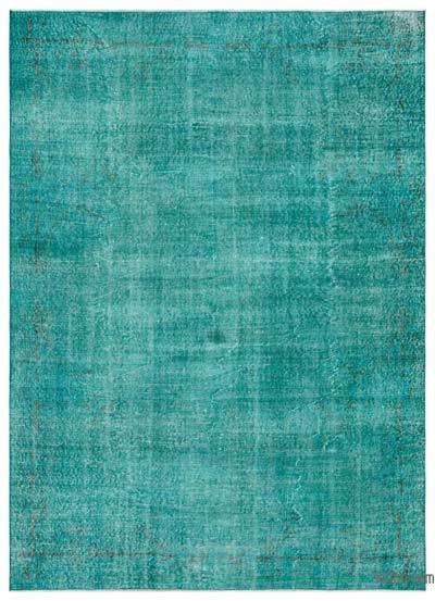 "Over-dyed Turkish Vintage Rug - 6' 8"" x 9' 3"" (80 in. x 111 in.)"