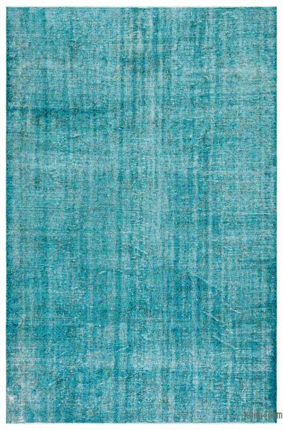 "Over-dyed Turkish Vintage Rug - 6'8"" x 10'2"" (80 in. x 122 in.)"