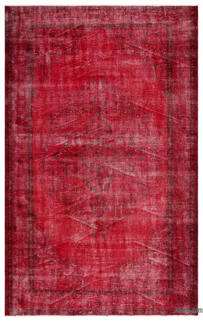 "Over-dyed Turkish Vintage Rug - 5'10"" x 9'7"" (70 in. x 115 in.)"
