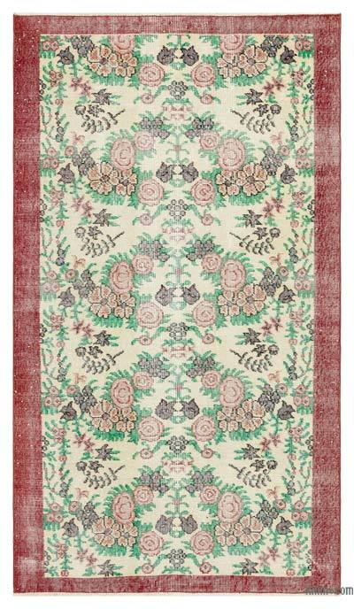 "Turkish Vintage Area Rug - 3' 9"" x 6' 7"" (45 in. x 79 in.)"