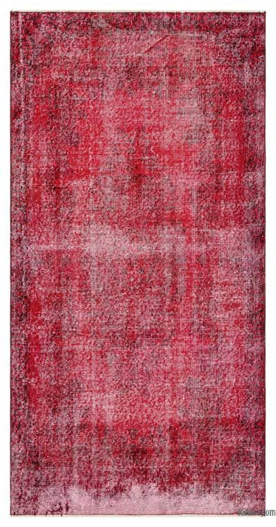"Over-dyed Turkish Vintage Rug - 3'8"" x 7'3"" (44 in. x 87 in.)"