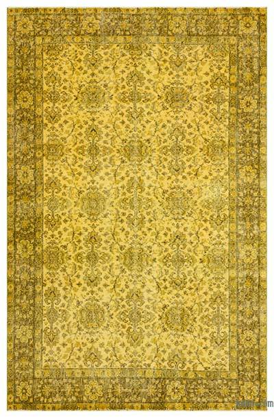 """Over-dyed Turkish Vintage Rug - 5'7"""" x 8'7"""" (67 in. x 103 in.)"""