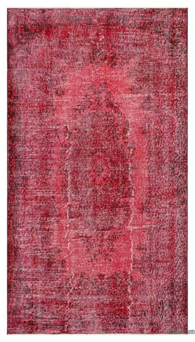 Alfombra Turca Vintage Sobre-teñida - 113 cm x 208 cm