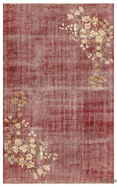 """Turkish Vintage Area Rug - 5' 5"""" x 8' 9"""" (65 in. x 105 in.)"""