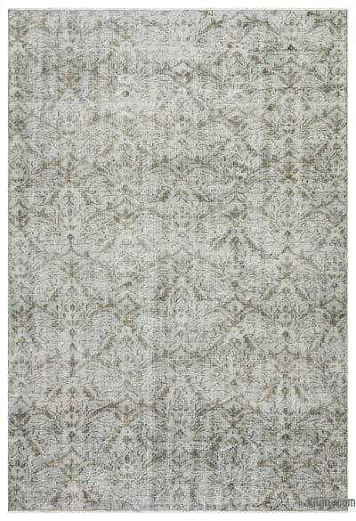 """Over-dyed Turkish Vintage Rug - 6' 1"""" x 9' 1"""" (73 in. x 109 in.)"""