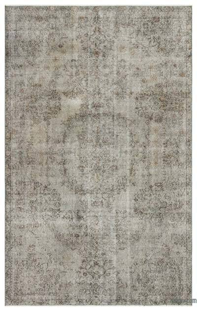 "Over-dyed Turkish Vintage Rug - 5' 7"" x 9' 2"" (67 in. x 110 in.)"