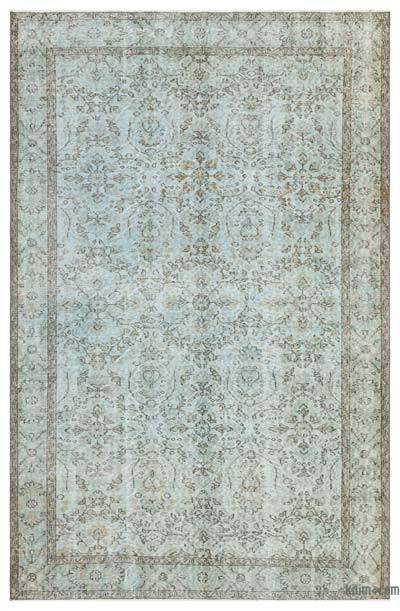 """Over-dyed Turkish Vintage Rug - 5' 8"""" x 8' 9"""" (68 in. x 105 in.)"""
