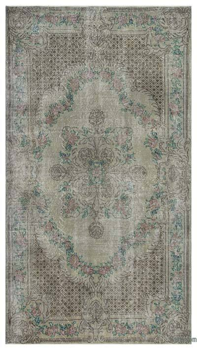 "Over-dyed Turkish Vintage Rug - 5' 1"" x 9' 1"" (61 in. x 109 in.)"