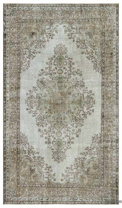 """Over-dyed Turkish Vintage Rug - 5'5"""" x 9'5"""" (65 in. x 113 in.)"""
