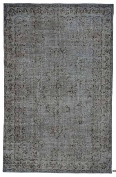 Boyalı El Dokuma Vintage Halı - 216 cm x 328 cm