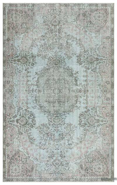 Alfombra Turca Vintage Sobre-teñida - 177 cm x 281 cm