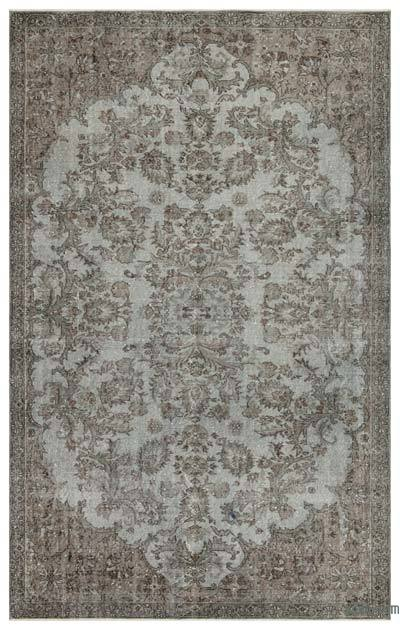 "Over-dyed Turkish Vintage Rug - 6'2"" x 9'9"" (74 in. x 117 in.)"