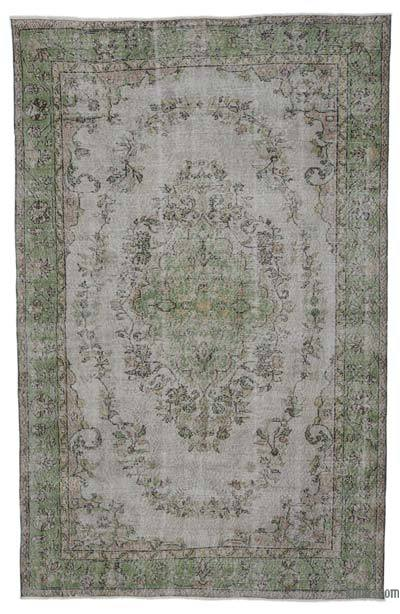 "Over-dyed Turkish Vintage Rug - 6'9"" x 10'5"" (81 in. x 125 in.)"