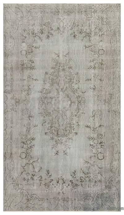 Boyalı El Dokuma Vintage Halı - 167 cm x 293 cm