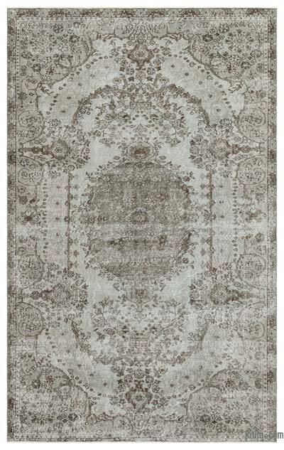 "Over-dyed Turkish Vintage Rug - 5'10"" x 9'3"" (70 in. x 111 in.)"