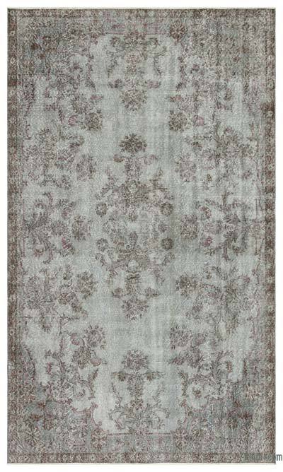 """Over-dyed Turkish Vintage Rug - 5'8"""" x 9'7"""" (68 in. x 115 in.)"""