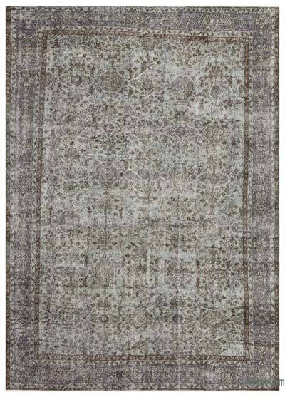 "Over-dyed Turkish Vintage Rug - 7'2"" x 10'1"" (86 in. x 121 in.)"