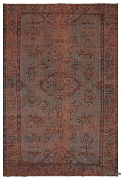 "Over-dyed Turkish Vintage Rug - 5'9"" x 8'10"" (69 in. x 106 in.)"