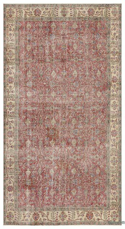 """Vintage Turkish Hand-Knotted Rug - 5' 2"""" x 9' 8"""" (62 in. x 116 in.)"""