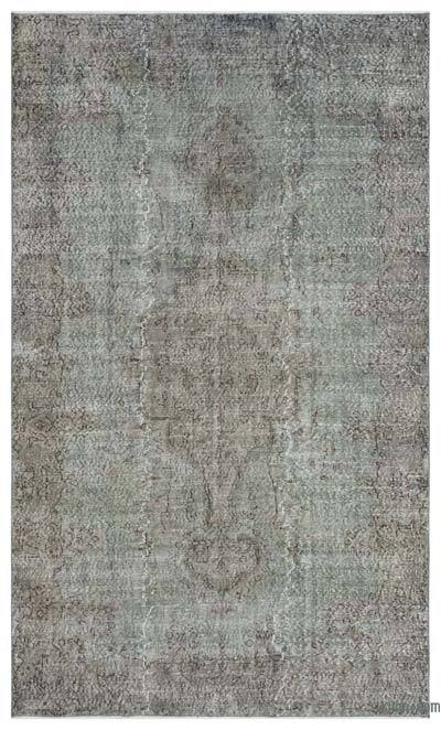 "Over-dyed Turkish Vintage Rug - 5'8"" x 9'7"" (68 in. x 115 in.)"