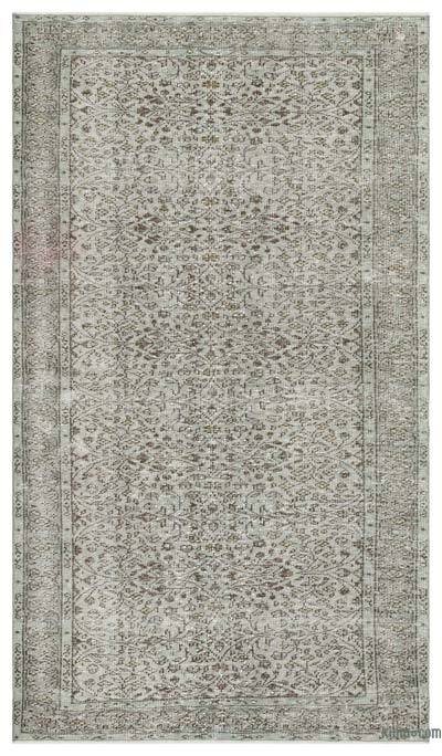"Over-dyed Turkish Vintage Rug - 5' 1"" x 8' 11"" (61 in. x 107 in.)"