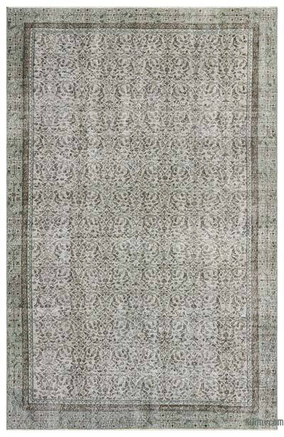 """Over-dyed Turkish Vintage Rug - 6'4"""" x 9'11"""" (76 in. x 119 in.)"""