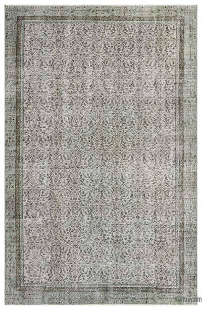 Boyalı El Dokuma Vintage Halı - 192 cm x 302 cm