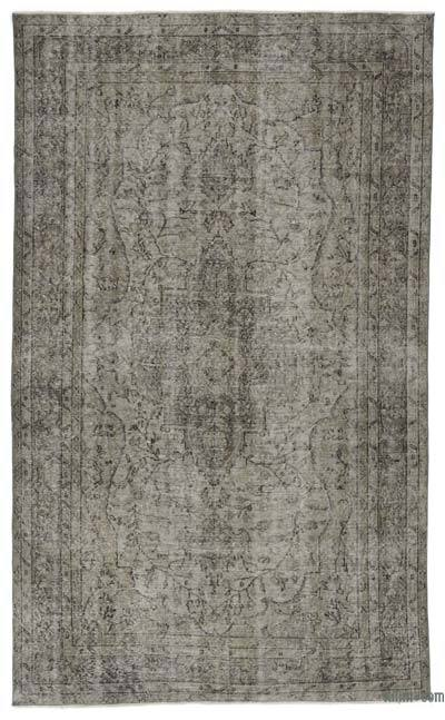 "Over-dyed Turkish Vintage Rug - 5' 6"" x 9' 3"" (66 in. x 111 in.)"