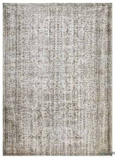 """Over-dyed Turkish Vintage Rug - 6'4"""" x 8'8"""" (76 in. x 104 in.)"""