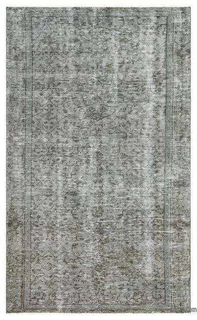 """Over-dyed Turkish Vintage Rug - 4'6"""" x 7'7"""" (54 in. x 91 in.)"""
