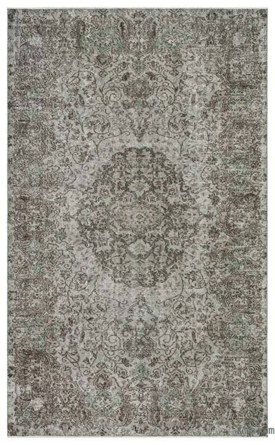 "Over-dyed Turkish Vintage Rug - 5' 6"" x 8' 10"" (66 in. x 106 in.)"