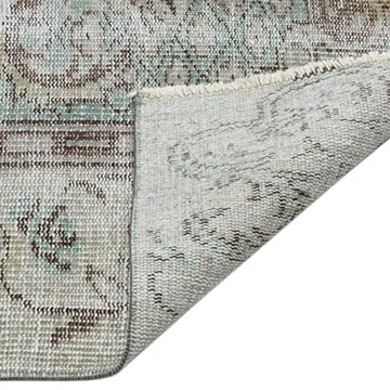 Gri Boyalı El Dokuma Vintage Halı - 171 cm x 276 cm - K0044357