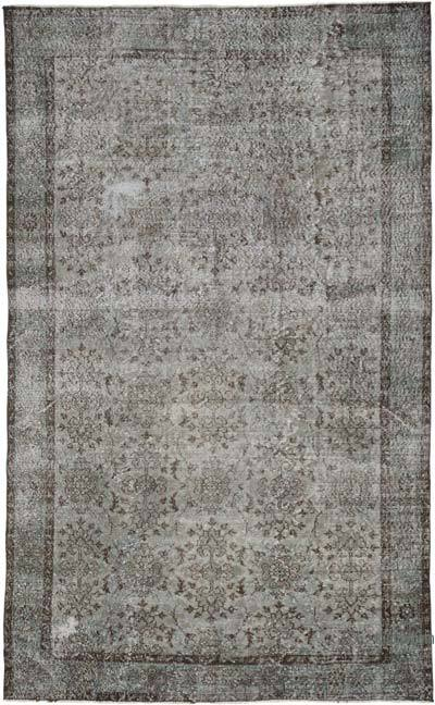 "Over-dyed Turkish Vintage Rug - 6' 3"" x 10' 2"" (75 in. x 122 in.)"