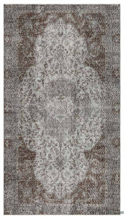 "Over-dyed Turkish Vintage Rug - 4'9"" x 8'8"" (57 in. x 104 in.)"