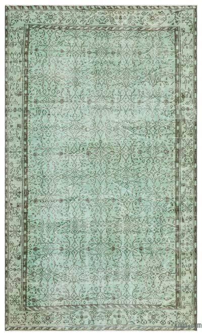 Boyalı El Dokuma Vintage Halı - 183 cm x 310 cm