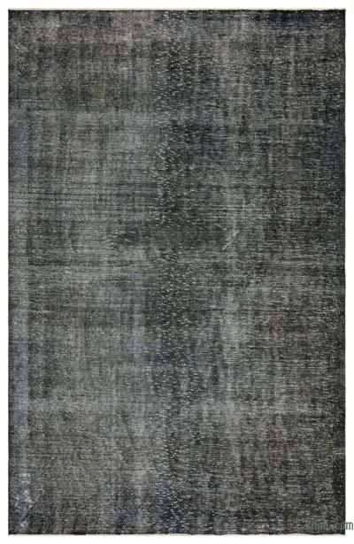 Boyalı El Dokuma Vintage Halı - 188 cm x 292 cm