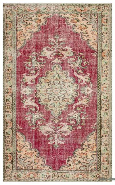 """Turkish Vintage Area Rug - 5' 6"""" x 8' 11"""" (66 in. x 107 in.)"""