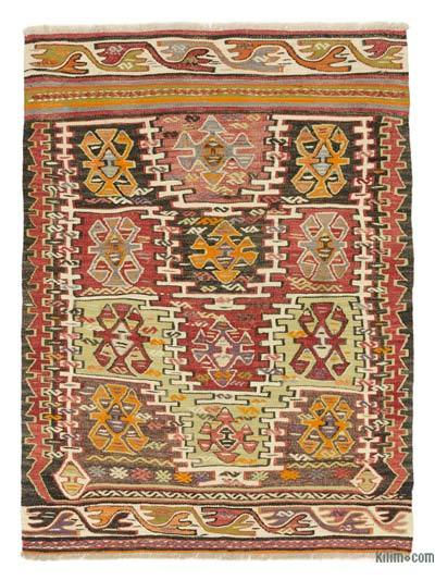 """Vintage Konya Kilim Rug - 3' 5"""" x 4' 6"""" (41 in. x 54 in.)"""