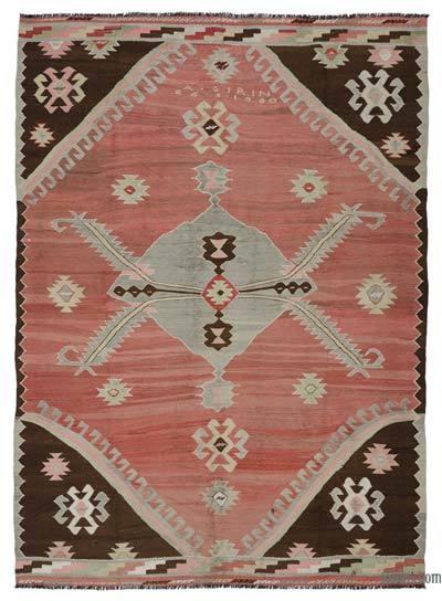 """Vintage Karakecili Kilim Rug - 7' 7"""" x 10' 4"""" (91 in. x 124 in.)"""