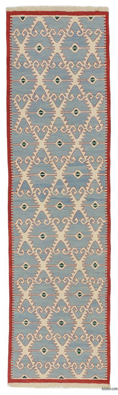 "New Handwoven Turkish Kilim Runner - 3'  x 10' 11"" (36 in. x 131 in.)"