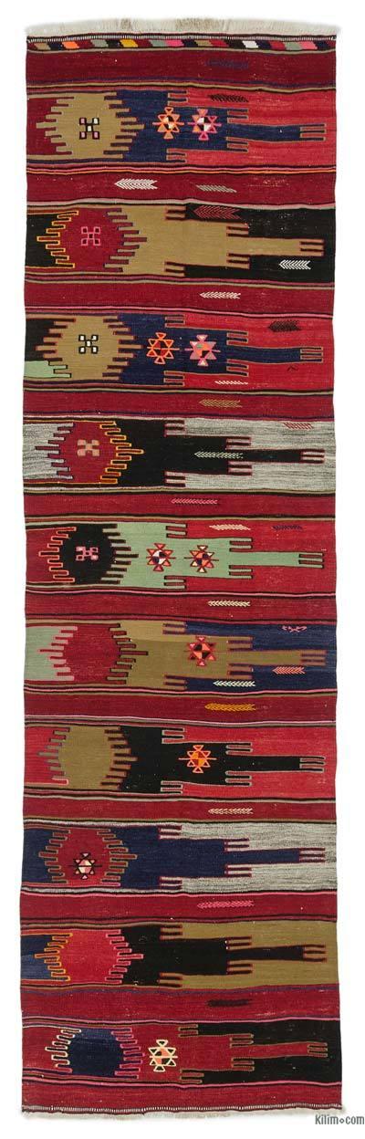 Çok Renkli Sivas Kilim Yolluk - 103 cm x 340 cm