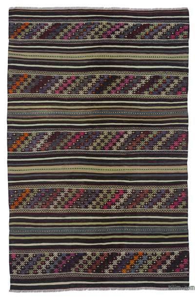 """Vintage Balikesir Kilim Rug - 4' 3"""" x 6' 9"""" (51 in. x 81 in.)"""