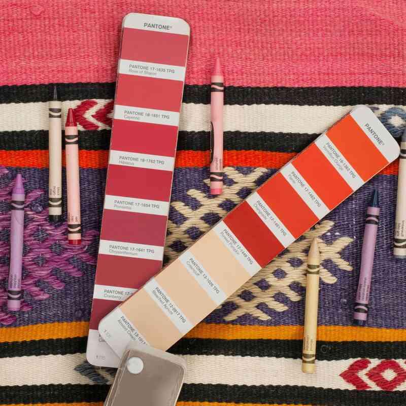 Multicolor Alfombra Vintage Manisa Kilim - 178 cm x 230 cm - K0044474