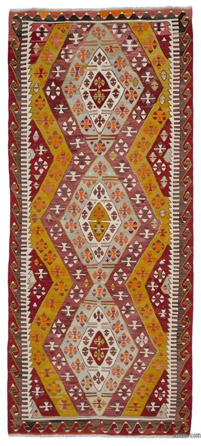 """Vintage Konya Kilim Rug - 5' 2"""" x 11' 10"""" (62 in. x 142 in.)"""