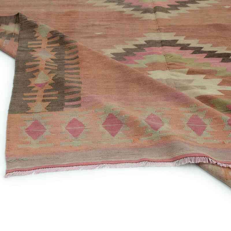 Kırmızı Vintage Adana Kilim - 210 cm x 348 cm - K0044478