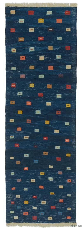 Yeni Kök Boya El Dokuma Kilim Yolluk - 85 cm x 258 cm